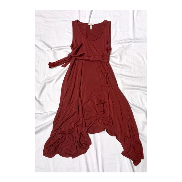 5be802a65b97 Soma Dresses | Like New Rust Wrap Midi Dress | Poshmark
